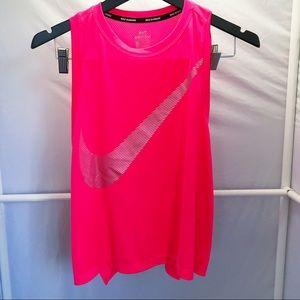 Nike Running Pink Tank Top Women's Medium